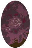 rug #688841   oval purple natural rug