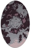 rug #688853 | oval purple graphic rug