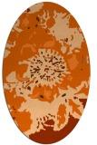 rug #688877 | oval red-orange graphic rug