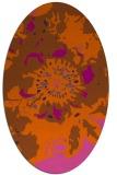 rug #688881 | oval red-orange rug