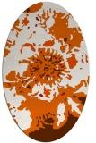 rug #688885 | oval red-orange natural rug
