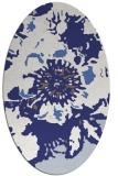 rug #688897 | oval white natural rug