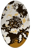 rug #688913 | oval brown graphic rug