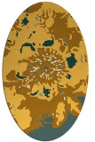 rug #688921 | oval yellow rug