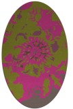 rug #688945 | oval light-green rug