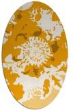 rug #688953 | oval light-orange graphic rug