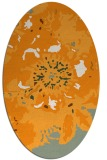 rug #688961 | oval light-orange natural rug