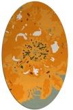rug #688961 | oval light-orange graphic rug