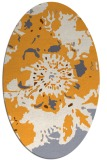 rug #688965 | oval white graphic rug