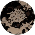 rug #689333 | round black rug