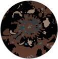 rug #689337 | round black graphic rug