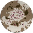 rug #689473 | round mid-brown natural rug