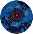 rug #689489 | round blue rug