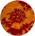 rug #689509 | round red-orange graphic rug