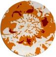 rug #689513 | round orange graphic rug
