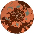 rug #689521 | round orange graphic rug