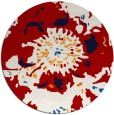 rug #689561 | round red graphic rug