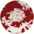 rug #689569 | round red natural rug