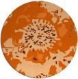 rug #689581 | round red-orange natural rug