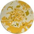rug #689609 | round yellow graphic rug