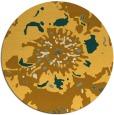 rug #689625 | round yellow graphic rug