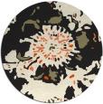 rug #689629 | round black natural rug