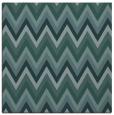 rug #690097 | square blue-green stripes rug
