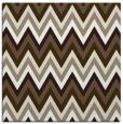 rug #690165 | square mid-brown stripes rug