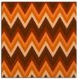 rug #690285 | square red-orange stripes rug