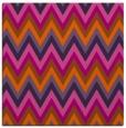 rug #690289 | square red-orange stripes rug