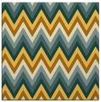rug #690329   square light-orange stripes rug
