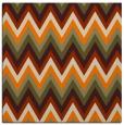 rug #690341   square orange stripes rug