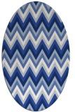 rug #690417   oval blue popular rug