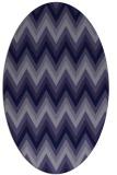 rug #690461 | oval blue-violet stripes rug
