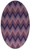 rug #690473 | oval purple rug