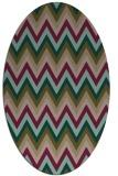 rug #690497 | oval mid-brown stripes rug