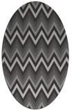 rug #690577 | oval red-orange stripes rug