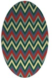 rug #690582 | oval stripes rug