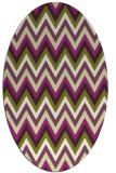 rug #690605 | oval purple stripes rug