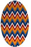 rug #690618 | oval stripes rug