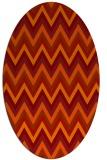 rug #690621 | oval red rug