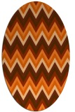 rug #690637 | oval red-orange stripes rug