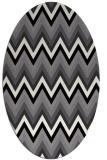 rug #690649 | oval white stripes rug