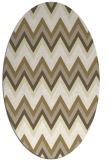 rug #690669 | oval white stripes rug