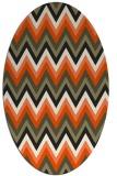 rug #690685 | oval black stripes rug