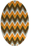 rug #690721 | oval light-orange stripes rug