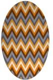 rug #690725 | oval light-orange stripes rug