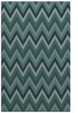 rug #690801 |  blue-green stripes rug