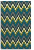 rug #690857 |  green stripes rug