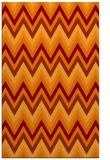 rug #690917 |  orange stripes rug